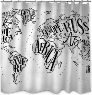 Flags and maps shower curtains pixers worldmap vintage paper shower curtain gumiabroncs Gallery