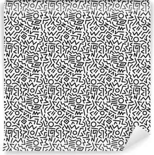 Självhäftande Fototapet 80s pattern