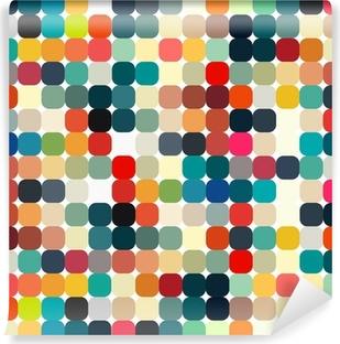 Självhäftande Fototapet Abstrakt geometriskt retro mönster sömlös för din design