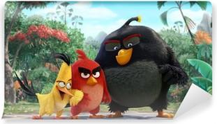 Självhäftande Fototapet Angry Birds