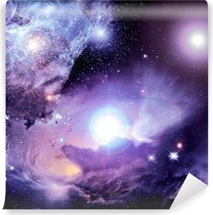 Självhäftande Fototapet Fantasy Space Nebula