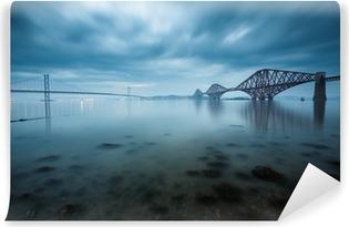 Självhäftande Fototapet Forth broar i Edinburgh, Skottland