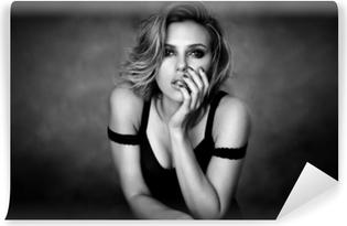 Självhäftande Fototapet Scarlett Johansson