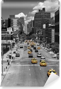 Självhäftande Fototapet Taxi Drive