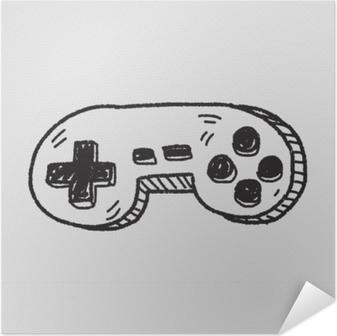 Självhäftande Poster Doodle spelkontrollen