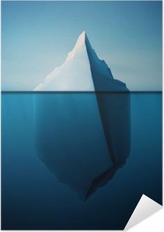 Självhäftande Poster Ensam isberg