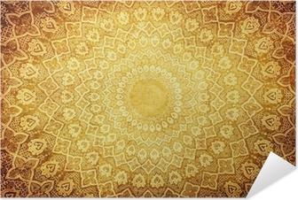 Självhäftande Poster Grunge bakgrund med orientaliska ornament.
