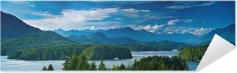 Självhäftande Poster Panoramautsikt över Tofino, Vancouver Island, Kanada