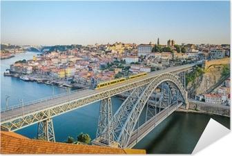Självhäftande Poster Porto med Dom Luiz Bridge, Portugal