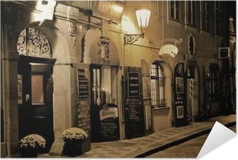 Självhäftande Poster Romantisk middag i Prag