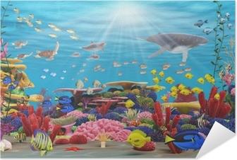 Självhäftande Poster Underwater paradis