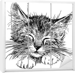 Skåp klistermärken Sovande katt