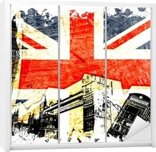 Skåpdekor Engelska flaggan etsat