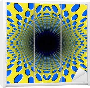 Skåpdekor Svart hål. optisk illusion.
