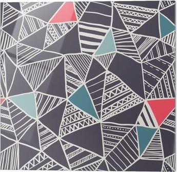 Skleněný obraz Abstraktní bezešvé doodle vzor