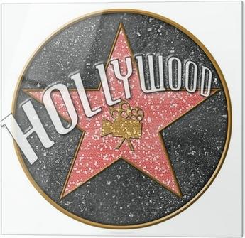 Skleněný obraz Hollywood hvězda