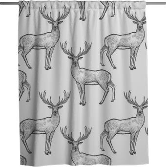 Sprchový závěs Bezproblémové vzorek s jelenem.