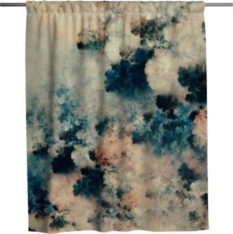 Sprchový závěs Digitální abstraktní malba tmavých textur, které se podobají fantazijní mraky na světlém pozadí