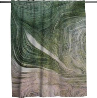 Sprchový závěs Odstíny zeleně