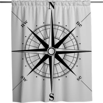 Sprchový závěs Růžice kompasu