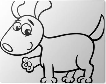 Quadro Su Tela Cane Da Colorare Cartone Animato Cucciolo Pixers