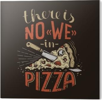 Stampa in PVC Lettering retrò non ci siamo in pizza su uno sfondo scuro. trama grunge usurata su un livello separato e può essere facilmente disabilitata.