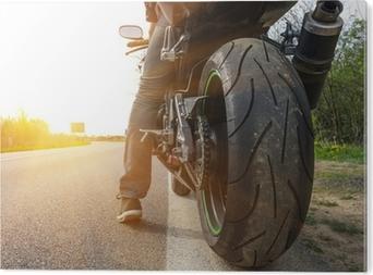 Stampa in PVC Moto sul lato della strada