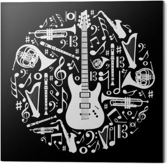 Carta Da Parati Amore In Bianco E Nero Per La Musica Concetto