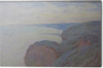 Stampa su Alluminio (Dibond) Claude Monet - Steef scogliere vicino a Dieppe