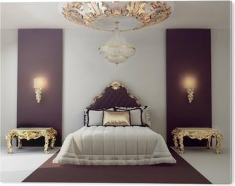 Quadro su Tela Di lusso camera da letto matrimoniale con mobili d ...