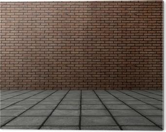 Carta da parati frontale 3d rendering di muro di mattoni con