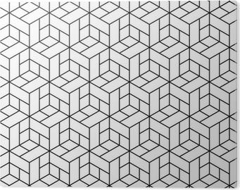Stampa su Alluminio (Dibond) Seamless pattern geometrici con cubetti.
