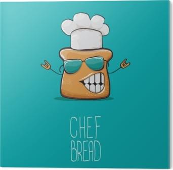 Carta da parati vettore simpatico personaggio di chef di pane carino