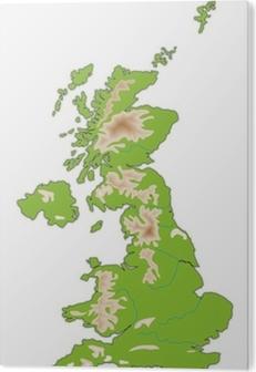 Regno Unito Cartina Muta.Carta Da Parati Cartina Fisica Regno Unito Pixers Viviamo Per Il Cambiamento