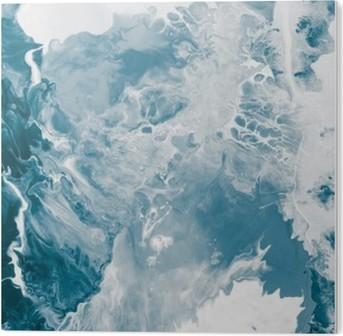 Stampa su Plexiglass Marmo texture blu