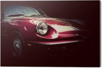 Stampa su Plexiglass Retro auto d'epoca su sfondo scuro. Vintage, elegante