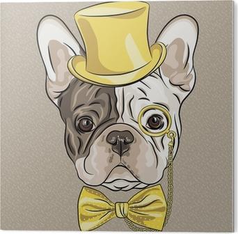 Carta da parati vector divertente cartone animato hipster cane di