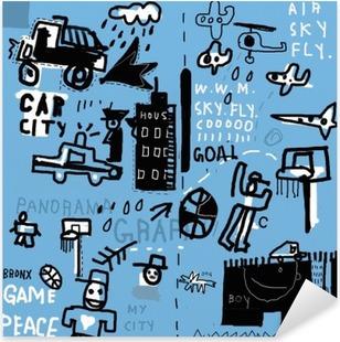 Граффити Pixerstick Sticker