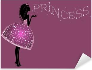 Красивая Принцесса в платье с блестками Pixerstick Sticker