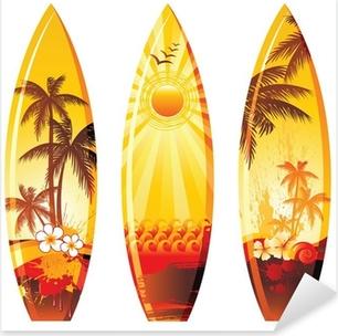 3 surf boards Pixerstick Sticker