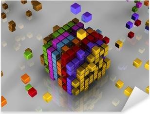Sticker Pixerstick 3d cubes