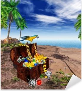 3D - EGN - Treasure - Pirate Pixerstick Sticker