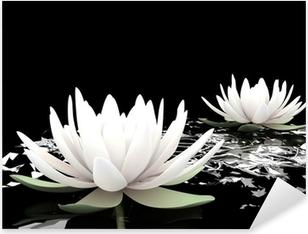 3d lotus on water Pixerstick Sticker