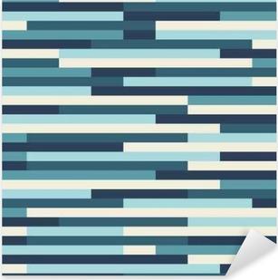 A blue vector geometric pattern background Pixerstick Sticker