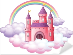 A Pink Fairy Tale Castle Pixerstick Sticker