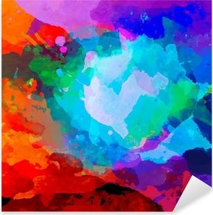 Pixerstick Sticker Abstract aquarel palet van mix kleuren
