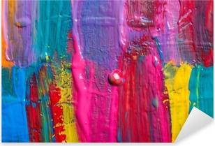 Abstract art background. Hand-painted background Pixerstick Sticker