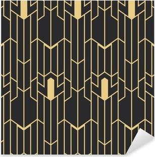 Pixerstick Sticker Abstract art deco naadloos patroon