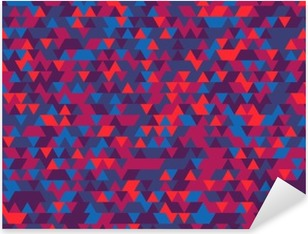 Abstract background of the triangles. The gradation of Violet. Violet hues. Pixerstick Sticker