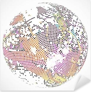 Sticker Pixerstick Abstract Background. Vecteur